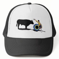 NAME: Clown and Bull-No-Text Trucker Hat