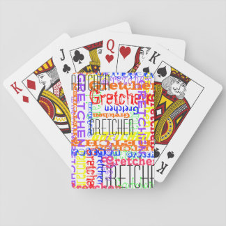 Name Collage Colorful Custom Personalized Poker Deck