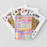 Name Collage Colorful Custom Personalized Playing Cards