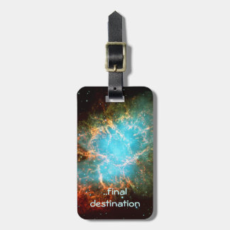 Name, Crab Nebula in Taurus outer space picture Luggage Tag
