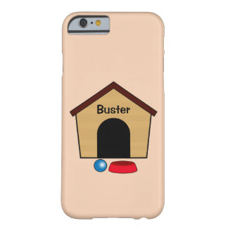 Name Customizable Dog House with Bowl and Ball Barely There iPhone 6 Case