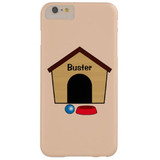 Name Customizable Dog House with Bowl and Ball Barely There iPhone 6 Plus Case