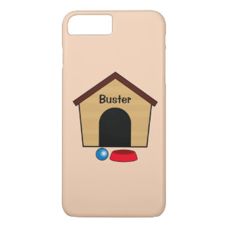Name Customizable Dog House with Bowl and Ball iPhone 7 Plus Case