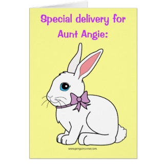 Name Customizable Happy Easter, Aunt Angie Card