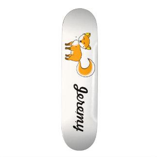 Name customized cute fox forest animal cartoon custom skate board