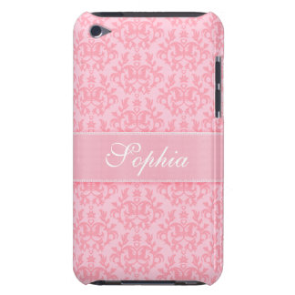Name damask light pink girls ipod touch case