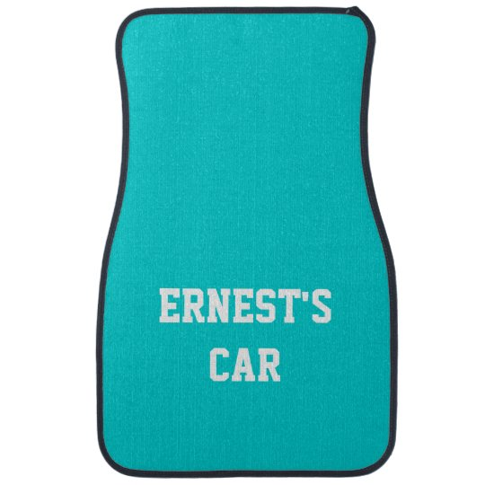 Name Dark Turquoise Best Complementary Color Car Floor Mat