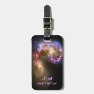 Name, Deep space astronomy: Antennae Galaxies Bag Tag