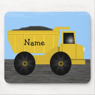Name Dump Truck Mousepad - Template