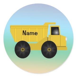 Name Dump Truck Stickers