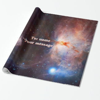 Name, Flame Nebula in Orion, intriguing deep space Wrapping Paper