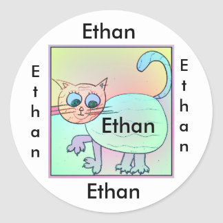 name for Ethan Classic Round Sticker