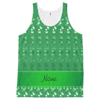 Name green baby bottle rattle pacifier stork All-Over print tank top