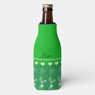Name green baby bottle rattle pacifier stork bottle cooler