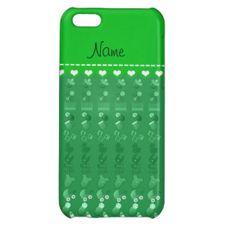 Name green baby bottle rattle pacifier stork iPhone 5C case