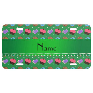 Name green cupcake donuts cake cookies license plate
