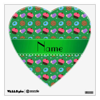 Name green cupcake donuts cake cookies wall decals