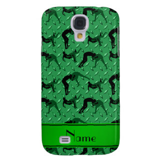 Name green diamond steel plate wrestling samsung galaxy s4 cover