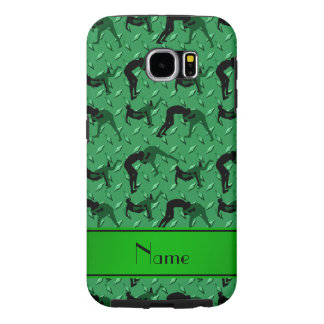 Name green diamond steel plate wrestling samsung galaxy s6 case