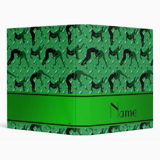 Name green diamond steel plate wrestling vinyl binders