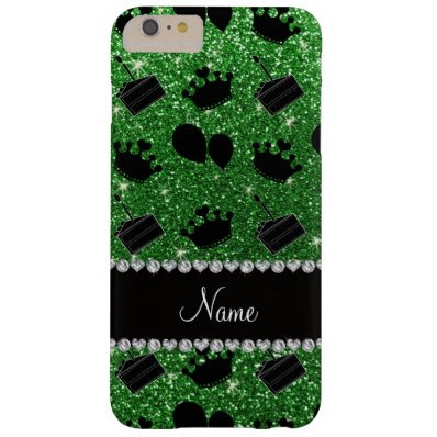 Name green glitter crowns balloons cake barely there iPhone 6 plus case
