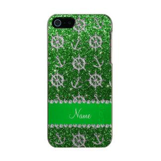 Name green glitter silver anchors ships wheel incipio feather® shine iPhone 5 case