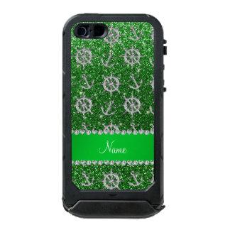 Name green glitter silver anchors ships wheel incipio ATLAS ID™ iPhone 5 case