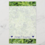 [ Thumbnail: Name + Green Hedge Shrub Type Plant Photograph Stationery ]