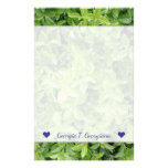 [ Thumbnail: Name + Green Hedge Shrub Type Plant Photograph Stationery ]