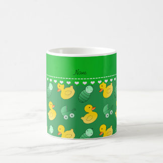 Name green rubberduck baby carriage coffee mug