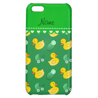 Name green rubberduck baby carriage cover for iPhone 5C