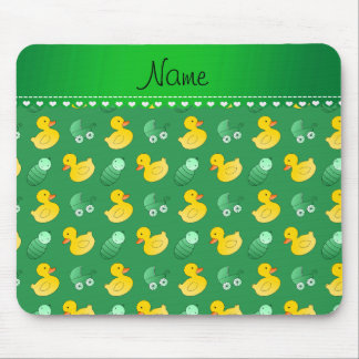 Name green rubberduck baby carriage mouse pad