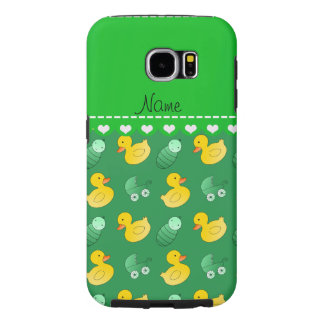 Name green rubberduck baby carriage samsung galaxy s6 case