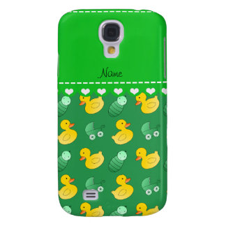 Name green rubberduck baby carriage samsung s4 case