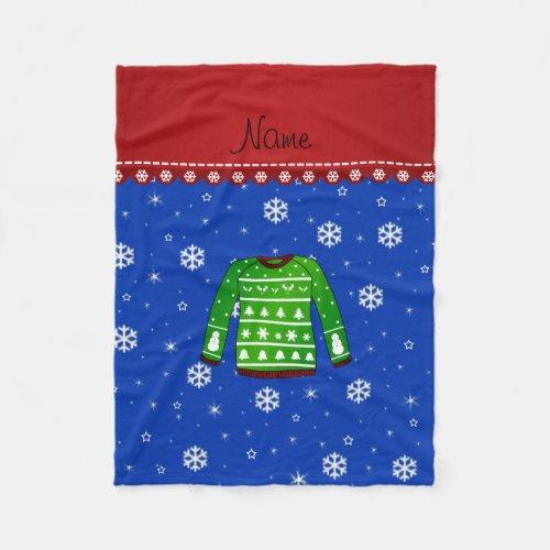 Ugly Christmas Sweater Blanket