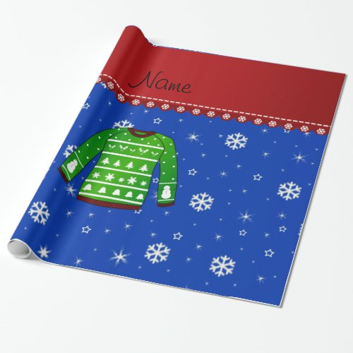 Ugly Holiday Sweater Christmas Gift Wrapping Paper