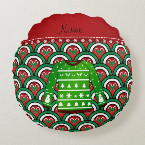 Name Ugly Sweater Pillow