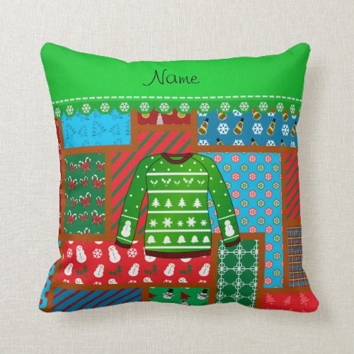 how to make a sweater throw pillow