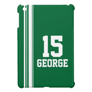 Name green & white sport name & number ipad mini case for the iPad mini