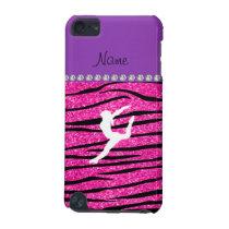 Name gymnast neon not pink glitter zebra stripes iPod touch 5G case