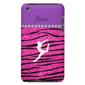Name gymnast neon not pink glitter zebra stripes iPod touch Case-Mate case
