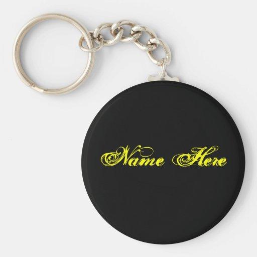 Name Here Keychain
