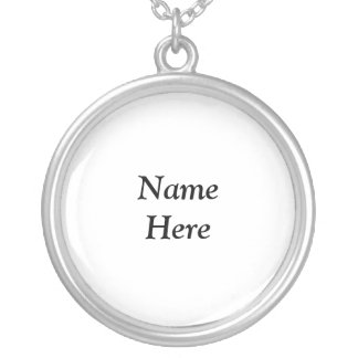 Name Here Necklace