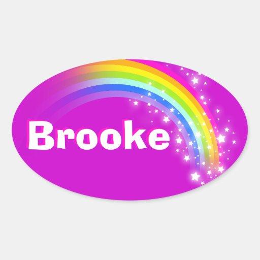 Name ID Brooke purple pink rainbow stickers