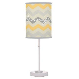 Name id gray yellow chevron zigzag zig zag pattern table lamp