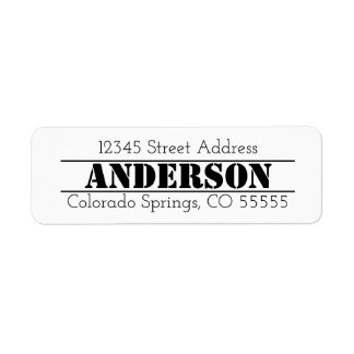 Name in Center - Return Address Label