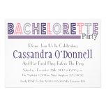 Name In Lights Bachelorette Party Invites (Purple)