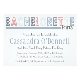 Name In Lights Bachelorette Party Invites (Silver)