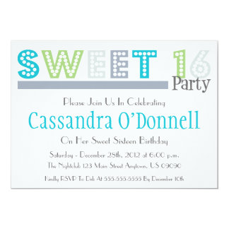 Name In Lights Sweet 16 Party Invitations (Gray)