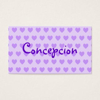 Name in Purple Business Card